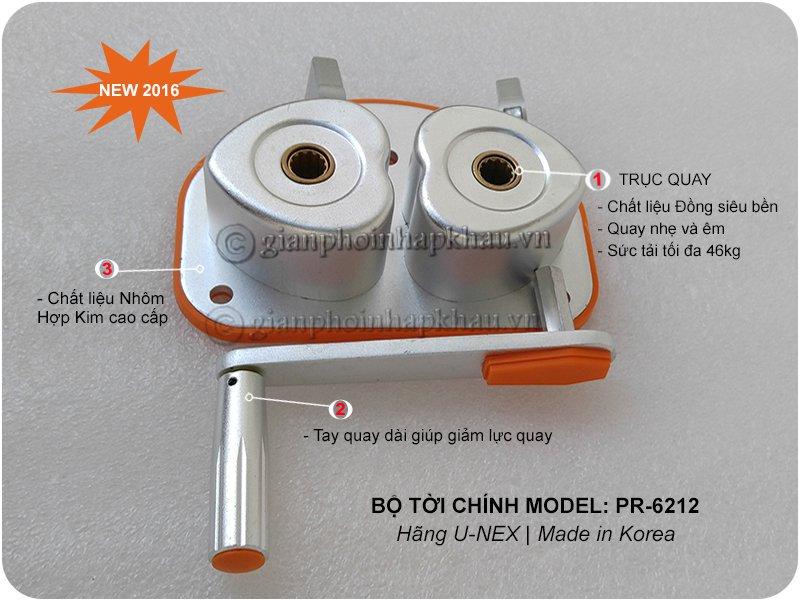 Bộ tời chính model PR-6212