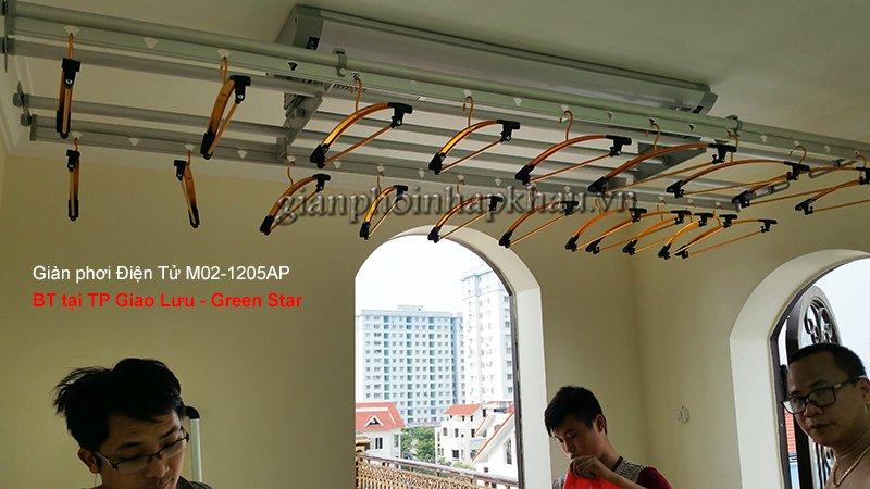 Giàn phơi Điện Tử M02-1205AP lắp tại TP Giao Lưu Green Star