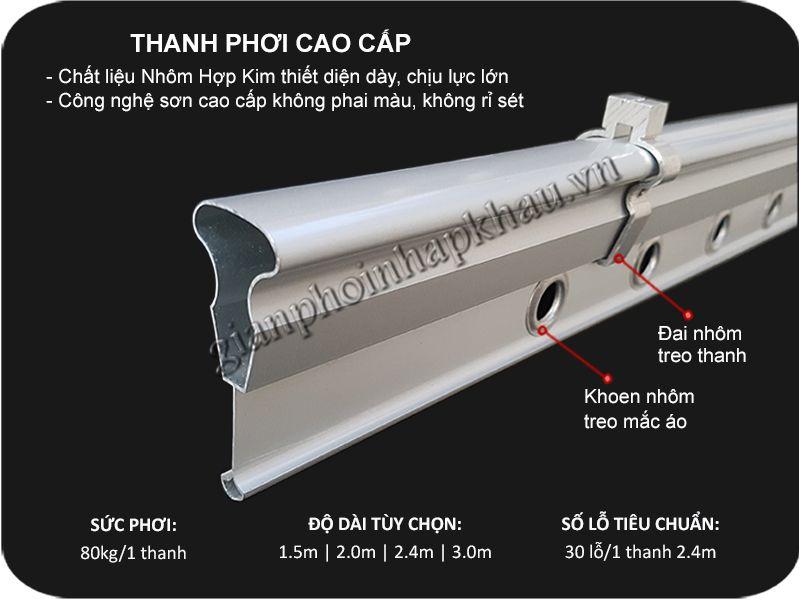 Thanh phoi quan ao bang Nhom hop kim